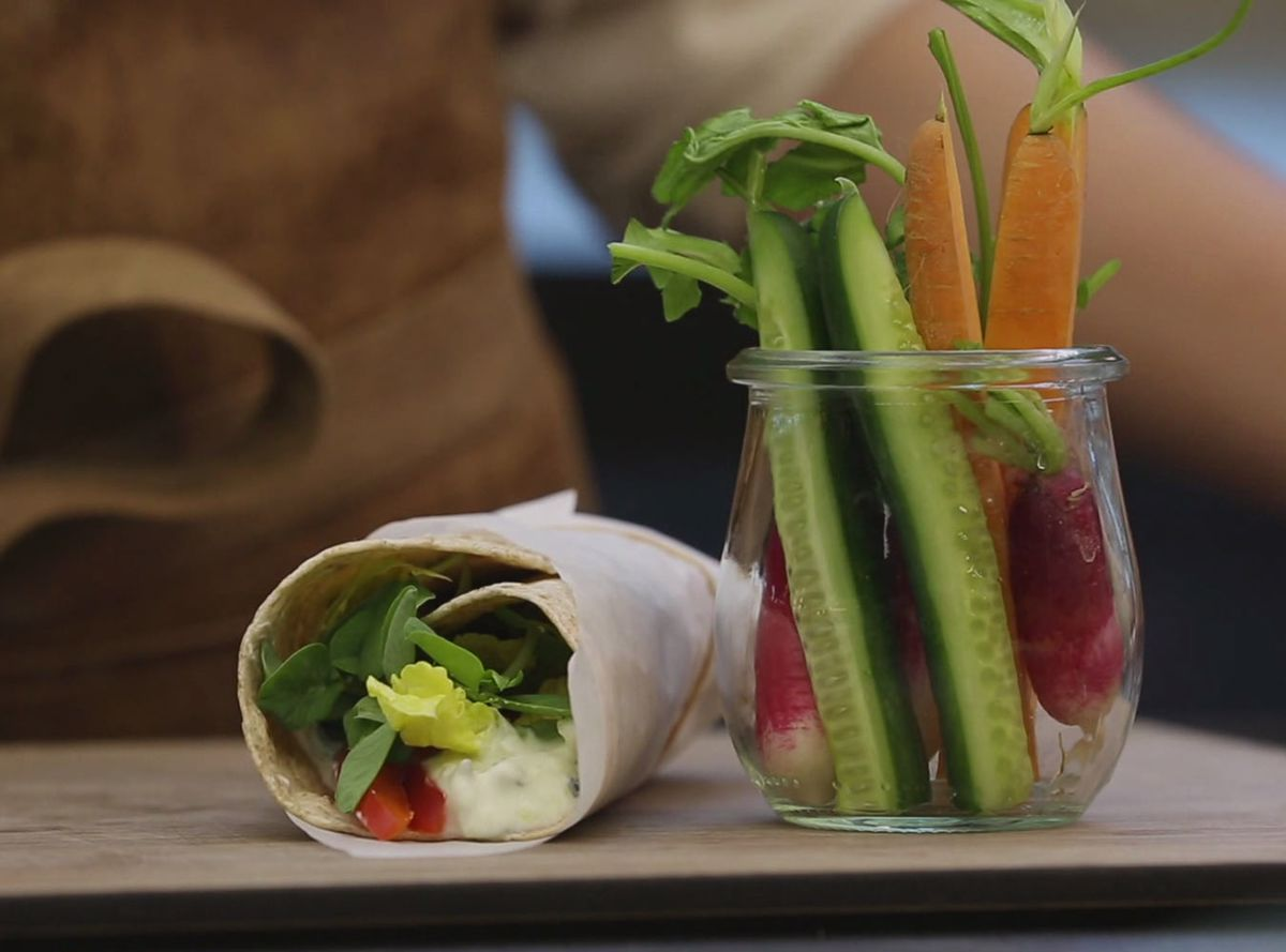Go'madpakke tips og tricks - wraps med tzaziki